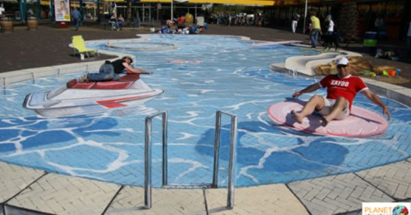 Swimming Pool Sidewalks : Swimming pool by planet street painting d chalk art