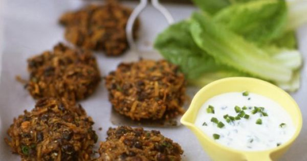 Spicy, Black bean cakes and Beans on Pinterest
