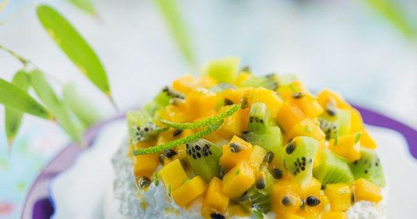 pavlova exotique la mangue kiwi citron vert fruits de la passion consid rations sur la. Black Bedroom Furniture Sets. Home Design Ideas