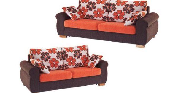 Sofas tapizados en tela de colores combinados sofas de for Cheslong dos plazas