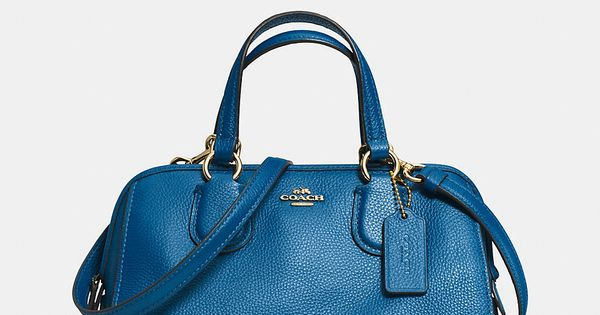 COACH MINI NOLITA SATCHEL IN LEATHER - Coach Handbags - Handbags &