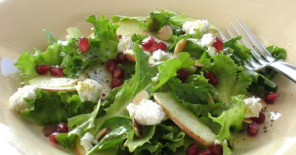 , Pomegranate and Arugula Salad with Apple Cider-Honey Vinaigrette ...
