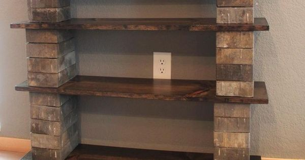 Glazed Cinder Blocks : Diy wall dividers glass block concrete and wood