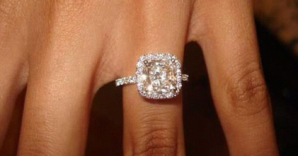 Cushion Cut micropave diamond ring by Harry Winston...my dream ring.