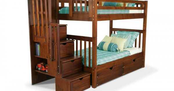 What A Good Use Of Space Cool Bunkbed Colorado Stairway Bunk Bed Bob 39 S Discount Furniture