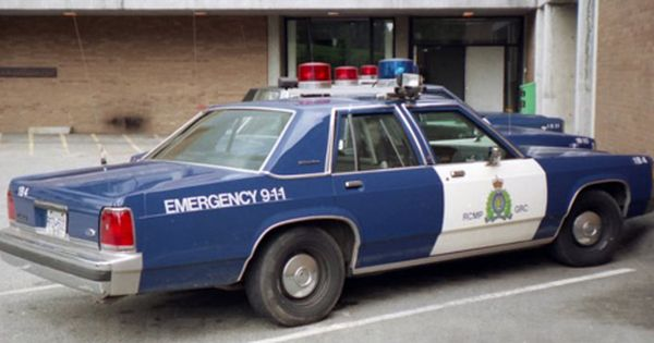 Royal Canadian Mounted Police Vehicle From Around The 1970s Police Cars Old Police Cars Ford Police