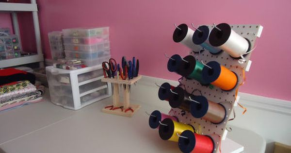 Pin By Kathy Turner On Craft Room Ribbon Storage Curling Ribbon