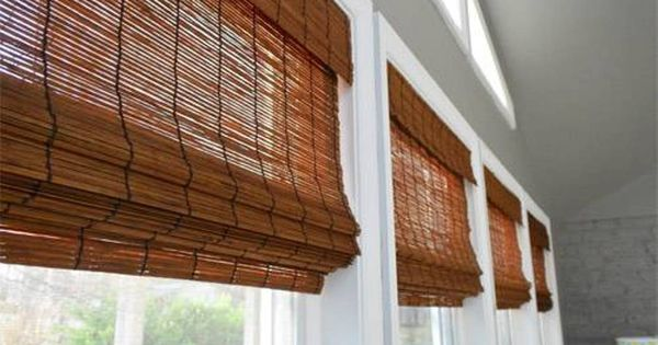 Bamboo wood blinds japanese window treatments beautiful for Asian window coverings
