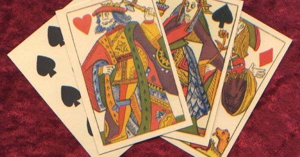 "C16th /""satirical/"" historic reproduction Karnöffel playing cards of Peter Flötner"