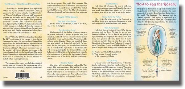 graphic regarding How to Pray the Rosary Printable Version referred to as How towards Say the Rosary Pamphlet Printable Holy rosary