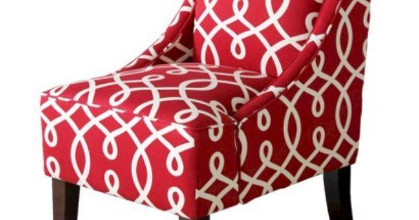 Threshold Swoop Arm Chair Raspberry Cursive Apartment