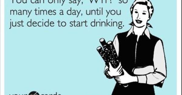 Start drinking NOW