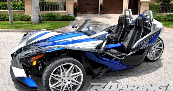polaris slingshot with custom paint turbo charged and custom wheels for sale at roaring toyz. Black Bedroom Furniture Sets. Home Design Ideas