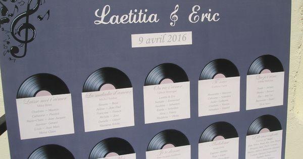 plan de table mariage musique theme chansons id es et merveilles 2 mariage d co. Black Bedroom Furniture Sets. Home Design Ideas