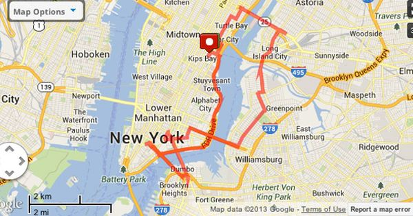 Six Great Running Routes In Nyc New York City Running Map New York City Travel