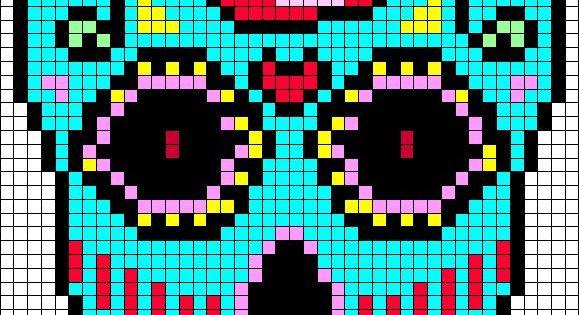 quotsugar skull perler bead patternsquot bing images cross