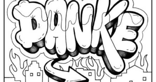 DANKE German Graffiti basic drawings Pinterest Graffiti und Deutschland