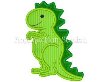 Dinosaur T Rex Cute Boys Applique Machine Embroidery Design Pattern Green Instant Downlo Disenos De Bordados A Maquina Disenos De Bordados Patrones De Apliques