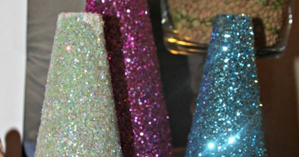 DIY Glitter Trees, Im SO making these next Christmas!!!!!!!