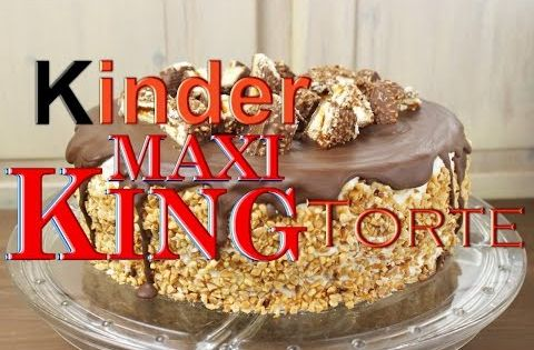 kinder maxi king torte backen leckere torten selber machen karamell einfach schnell. Black Bedroom Furniture Sets. Home Design Ideas