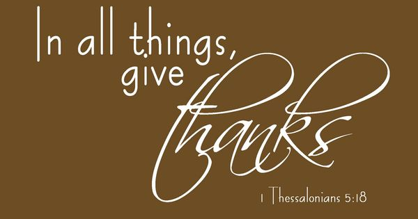Give Thanks 1 Thessalonians 5:18 Free Printable