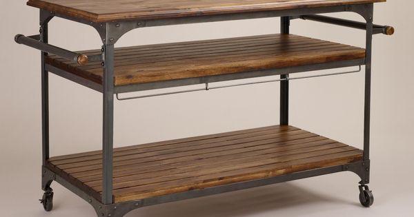 Wood And Metal Jackson Kitchen Cart Kitchen Carts