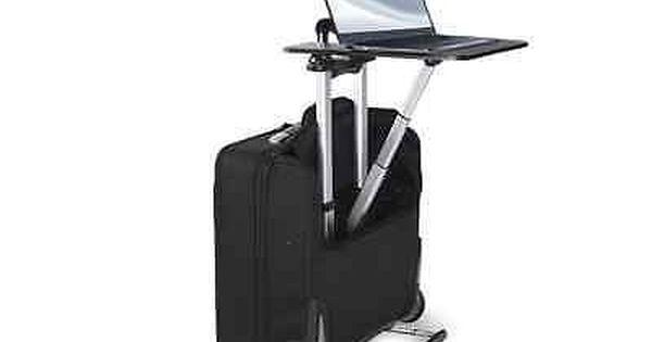 Rolling Laptop Bag Portable Desk Mobile Work Station