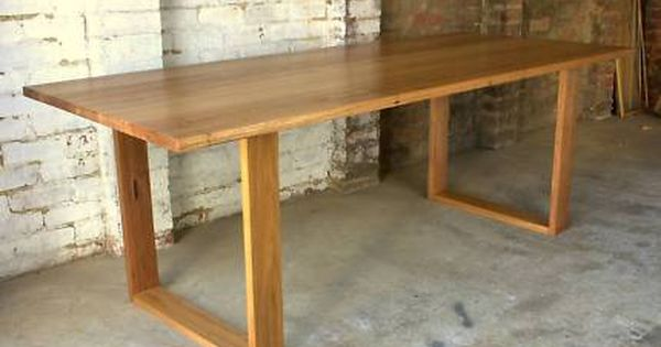 Handmade Recycled Square Frame Timber Box Leg Dining Table