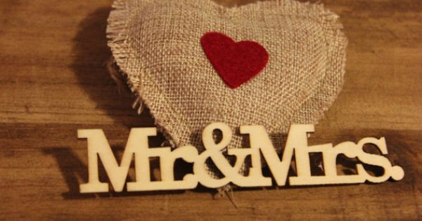 Mr Amp Mrs Wood Cutout Natural Lasercut Words Mr And Mrs