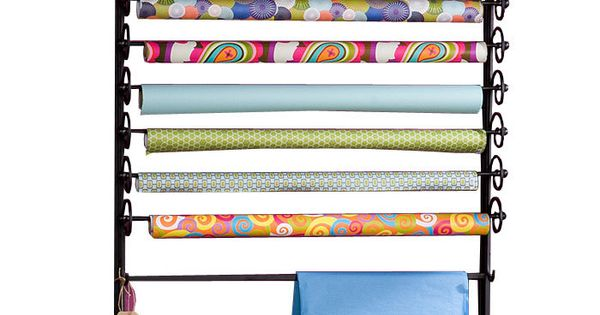 Wrapping paper organizer.