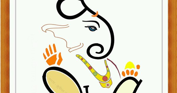 Images For > Ganpati Name Artist | Wall art | Pinterest ...