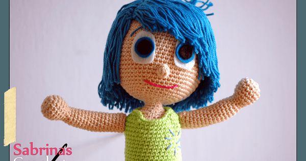 Joy Inside Out Free Amigurumi Crochet Pattern ~Her hair ...