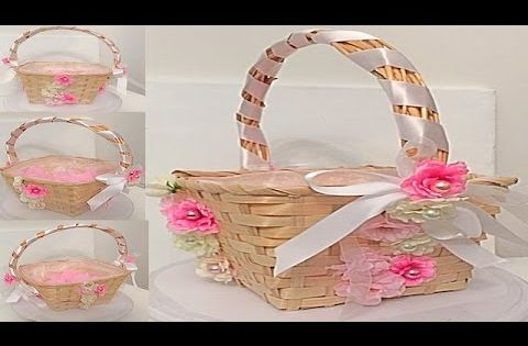 Como decorar una canasta para petalos de flores de boda - Como decorar una ensaladilla rusa ...