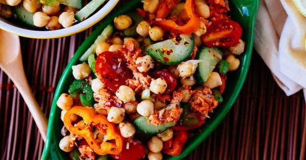Spicy Salmon & Chickpea Salad | 23 Healthy And Delicious ...