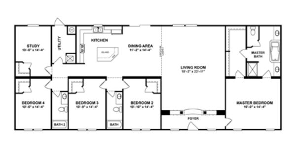 Clayton homes 4 bedrooms and bonus room floor plan the for 4 bedroom floor plans with bonus room