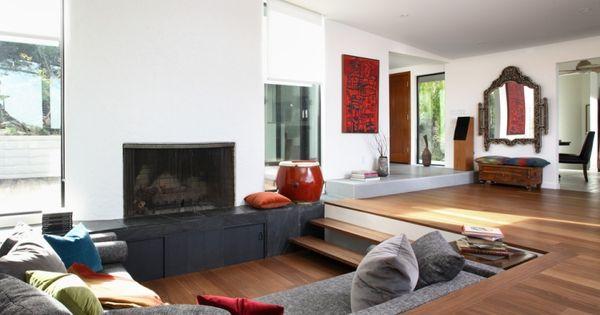 design de salon salon en contrebas pour rehausser son style style sons and design. Black Bedroom Furniture Sets. Home Design Ideas
