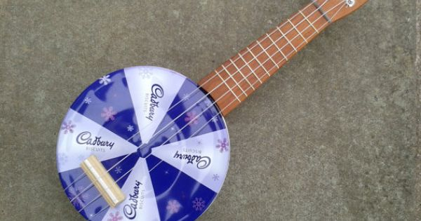 Cadbury Tinkulele Ukulele Made From Recycled Cookie Tin