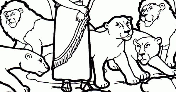 bible coloring pages lions - photo#15