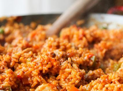 Chicken and Chorizo Paella - Life Made Simple-minded make with quinoa for
