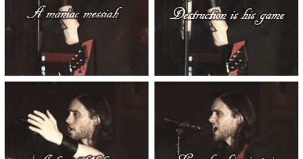 Thirty Seconds To Mars End Of All Days I Love This Song Love Me Forever Jared Leto