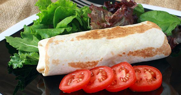 Healthy brown bag lunches for work or school. Grilled Chicken Burrito bag