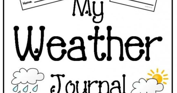 my weather journal  for elementary students  product from mrs