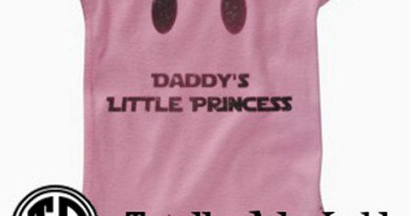 "Star Wars Baby Outfit - ""Daddy's Little Princess"" Just need it as"