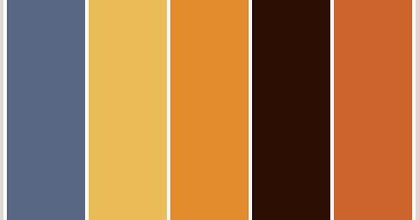Chocolate brown orange beige and medium blue color - Orange brown color scheme ...