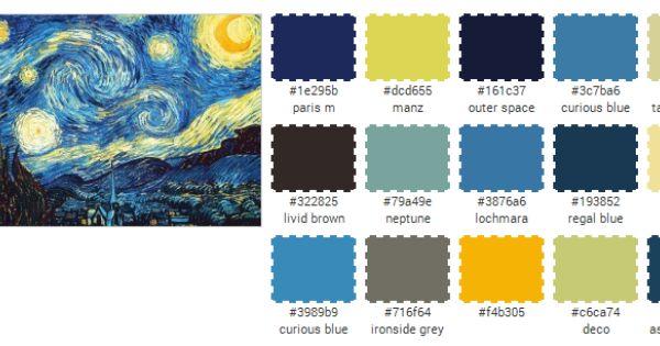 u0026quot the starry night u0026quot  color palette