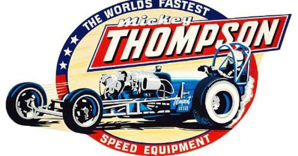 Hot Rod Vintage 1960s STP Flower Sticker Drag Racing