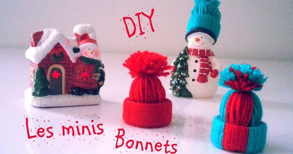 d i y d co no l les minis bonnets en laine hiver pinterest minis et bricolage. Black Bedroom Furniture Sets. Home Design Ideas