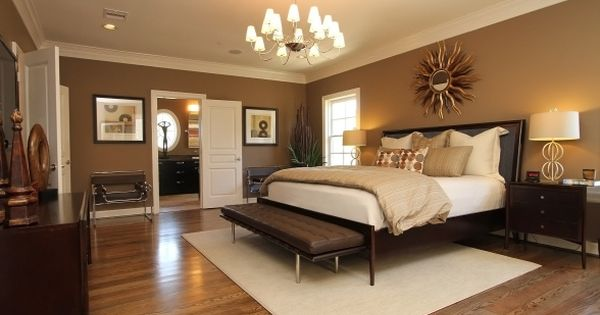 Master bedroom relaxing in warm neutrals and luxurious - Best wall colors for bedrooms 2017 ...