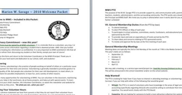 Member Orientation Packet