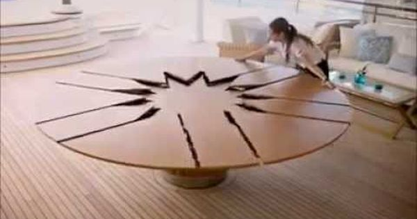 Smart Furniture Expandable Round Dining Table Design